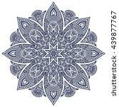 flower mandalas. vintage... | Shutterstock . vector #439877767