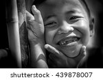 asia boy broken tooth smiling.... | Shutterstock . vector #439878007