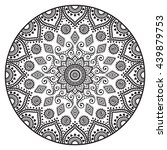 flower mandalas. vintage... | Shutterstock . vector #439879753