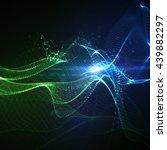 3d illuminated abstract digital ... | Shutterstock .eps vector #439882297