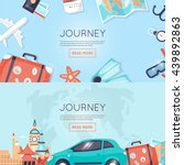 travel by car russia  usa ... | Shutterstock .eps vector #439892863