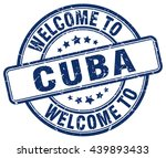 Постер, плакат: welcome to Cuba stamp Cuba