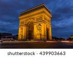 arc de triomphe in paris  france   Shutterstock . vector #439903663