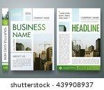 brochure design template vector.... | Shutterstock .eps vector #439908937