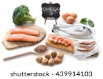 collection of foods high in... | Shutterstock . vector #439914103