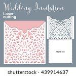 vector die laser cut envelope... | Shutterstock .eps vector #439914637