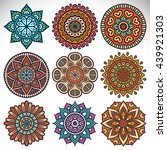 flower mandalas. vintage...   Shutterstock . vector #439921303