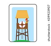 Lifeguard Tower Line Icon