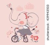 elephant hand drawn vector... | Shutterstock .eps vector #439943503