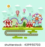 flat design vector summer... | Shutterstock .eps vector #439950703
