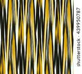 yellow and black seamless ikat... | Shutterstock .eps vector #439950787