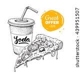 vintage fast food special offer.... | Shutterstock . vector #439951507