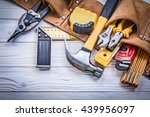 leather tool belt with... | Shutterstock . vector #439956097