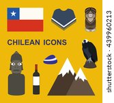 chile icons. chilean theme.... | Shutterstock .eps vector #439960213