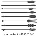 Arrows For Bow. Set Of Vector...