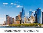 new york city panorama with... | Shutterstock . vector #439987873