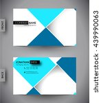 business card template  vector... | Shutterstock .eps vector #439990063