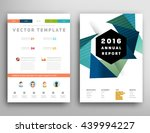 geometric cover background ... | Shutterstock .eps vector #439994227