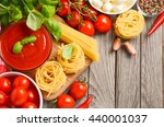italian food ingredients on... | Shutterstock . vector #440001037