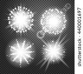 vector glowing lights effects... | Shutterstock .eps vector #440001697