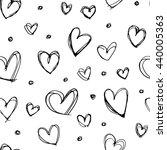 seamless hand drawn heart...   Shutterstock .eps vector #440005363