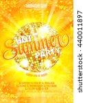 summer party template  banner...   Shutterstock .eps vector #440011897