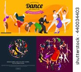 dancing people young man and... | Shutterstock .eps vector #440034403