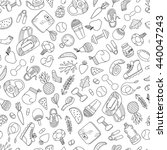 seamless pattern with cute... | Shutterstock .eps vector #440047243