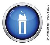 fitness bottle icon. glossy... | Shutterstock .eps vector #440051677