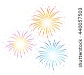 vector colorful firework... | Shutterstock .eps vector #440057503