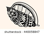sea shell with abstract pattern.... | Shutterstock .eps vector #440058847