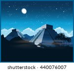 vector illustration of ancient... | Shutterstock .eps vector #440076007
