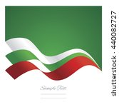 bulgaria abstract ribbons flag... | Shutterstock .eps vector #440082727