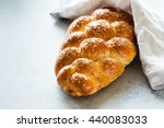 homemade challah bread with... | Shutterstock . vector #440083033