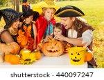 family craft together jack o'... | Shutterstock . vector #440097247