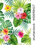 tropical seamless pattern with... | Shutterstock .eps vector #440098417