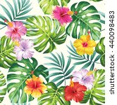 tropical seamless pattern with... | Shutterstock .eps vector #440098483