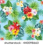 tropical seamless pattern with... | Shutterstock .eps vector #440098663