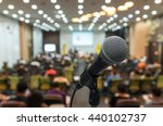 microphone over the abstract... | Shutterstock . vector #440102737