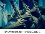 close up of clarinetist... | Shutterstock . vector #440103073