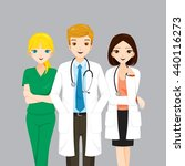doctor and nurse team ... | Shutterstock .eps vector #440116273