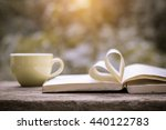 pages of a book curved into a... | Shutterstock . vector #440122783
