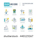 color thin line icons set. logo ... | Shutterstock .eps vector #440125267