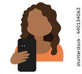 cartoon avatar woman with... | Shutterstock .eps vector #440134063