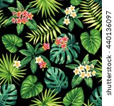 tropical seamless pattern with... | Shutterstock .eps vector #440136097