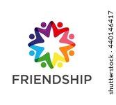 friendship  teamwork ... | Shutterstock .eps vector #440146417