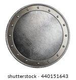 simple metal round shield...   Shutterstock . vector #440151643