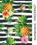 seamless tropical pattern with... | Shutterstock .eps vector #440154427