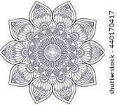 flower mandalas. vintage... | Shutterstock . vector #440170417