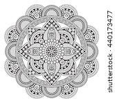flower mandalas. vintage... | Shutterstock . vector #440173477